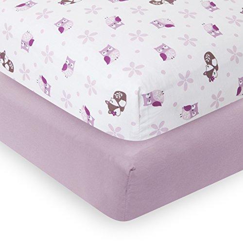 Bedtime Originals 2 Piece Lavender Woods Crib Sheet (Lavender Crib Sheet compare prices)