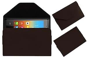 Acm Premium Pouch Case For Bq E1 Flip Flap Cover Holder Brown