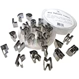 "Craftit Edibles; 26 Pcs Stainless Steel 1""- Mini Alphabet Cutters"