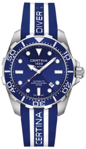 Gentlemen-Wristwatch Rubber Automatic Analog XL Certina C013 407.17.041.00.