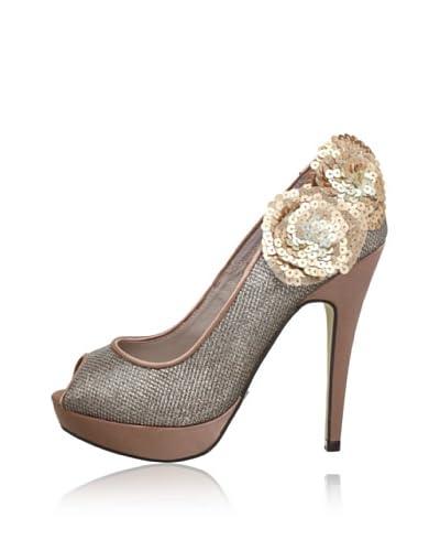 MENBUR Zapatos Peep Toe Etna Satén