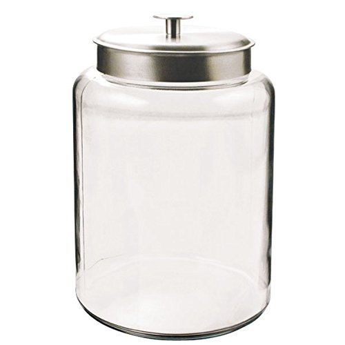 Anchor Hocking Montana 2-1/2-Gallon Jar, Brushed Metal Lid