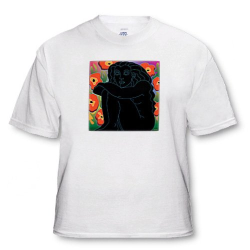 Lsq figure woman flowers design graphic art - Youth T-Shirt Small(6-8)