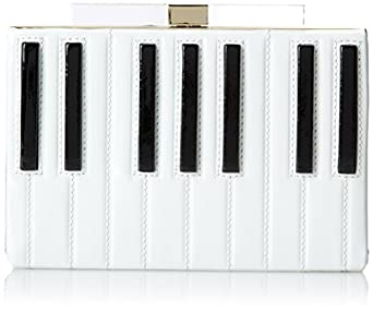 kate spade new york Fancy Footwork Emanuelle Clutch,Piano Keys,One Size