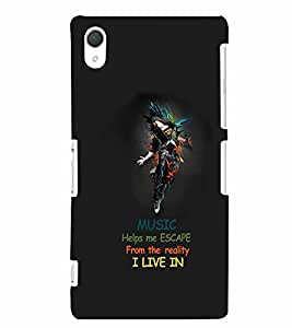 PrintVisa Quotes & Messages Music Life 3D Hard Polycarbonate Designer Back Case Cover for Sony Xperia Z2