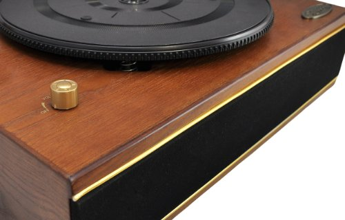 Pyle Home PNGTT1R Classic Horn Phonograph/Turntable with USB-To-PC Connection and Aux-In (Mahogany) 1