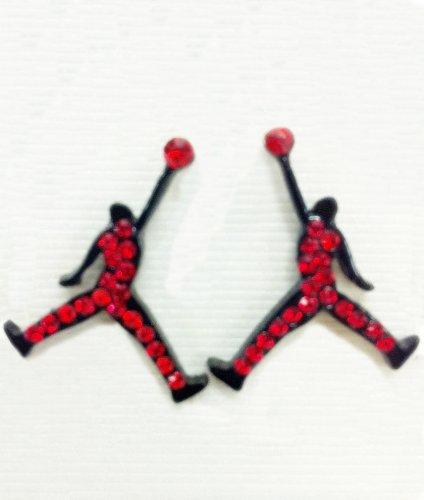 air matte earrings jumpman cz black dealtrend