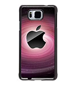 Fuson Premium 2D Back Case Cover Pink Apple With Multi Background Degined For Samsung Galaxy Alpha G850