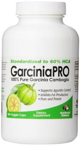 Garcinia PRO 100% Pure Garcinia Cambogia, 180 Veggie Caps