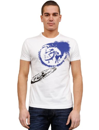 Diesel Pallor 100 Flare White Man T-shirts Make Men - Xl