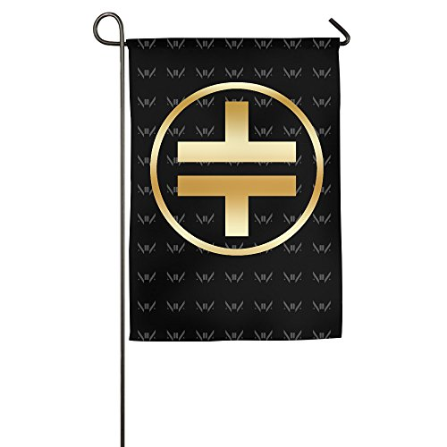 marilyn-manson-rock-band-gold-logo-garden-flag