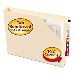 SMD75740 - Smead 75740 Manila End Tab File Jackets with Reinforced Tab