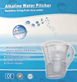 Alkaline 3.5 Liter Water Pitcher, Make Your Own Alkaline Mineral Water
