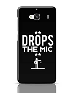 Posterguy Drops The Mic Case Cover For Redmi 2 (Black) Designed By: Aditya Mehrotra Am