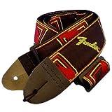 Fender フェンダー 2-モノグラム ストラップ BLK-YELLOW-RED