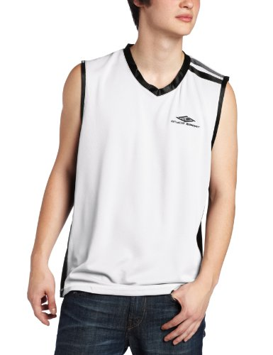 ENYCE Men's Penalty Tank Top, White, X-Large