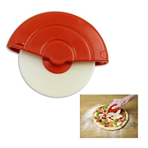 "5"" Rolling Handheld Pizza Cutter - Removable Nylon Safety Blade For Easy Cleaning"