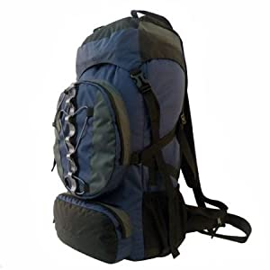 60+10l Internal Frame Camping Hiking Backpack Navy