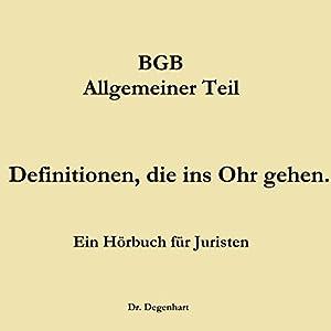 BGB - Allgemeiner Teil Hörbuch