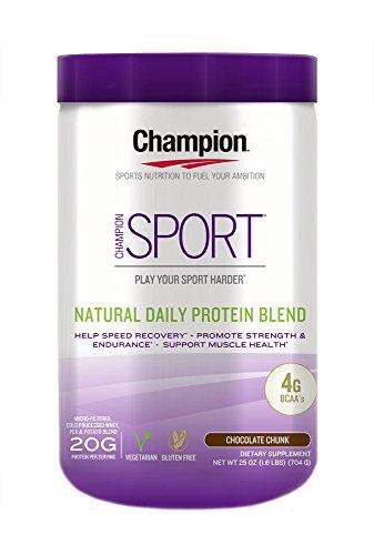 Champion Naturals Sport Protein Powder, Chocolate, 1.6 Pound
