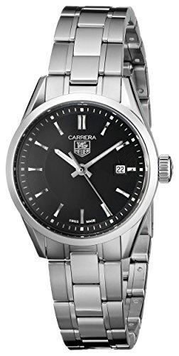 TAG Heuer Women's WV1414BA0793 Carrera Black Dial Watch
