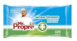 Mr Propre Lingettes Nettoyantes Antibactérien x 108