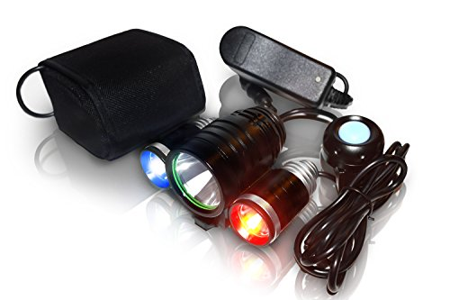 PS1200 Police Bike Lighting System: 1200 Lumens - 18 Hour Max Battery Life - Water Proof Design - No Tools Required - Setup in seconds - 5 Modes - Red / Blue Strobe LED - Real Police Lights For Bikes - Patrol Use For First Responders, Police Officers , Sheriff , EMS , Fire Fighter , Security , 100% 60 Day Satisfaction Guarantee - 100% Limited Lifetime Warranty