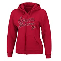 Atlanta Falcons Ladies Full Zip Majestic Hoodie by Majestic
