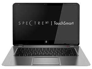 "HP Spectre XT TouchSmart Ultrabook 15t-4000 (Silver); Intel Core i7-3517U, 15.6"" FULL HD 1080p IPS Touch Screen Display, Dual Hard Drives (128GB SSD + 500GB 5400RPM), 12GB RAM Upgrade"