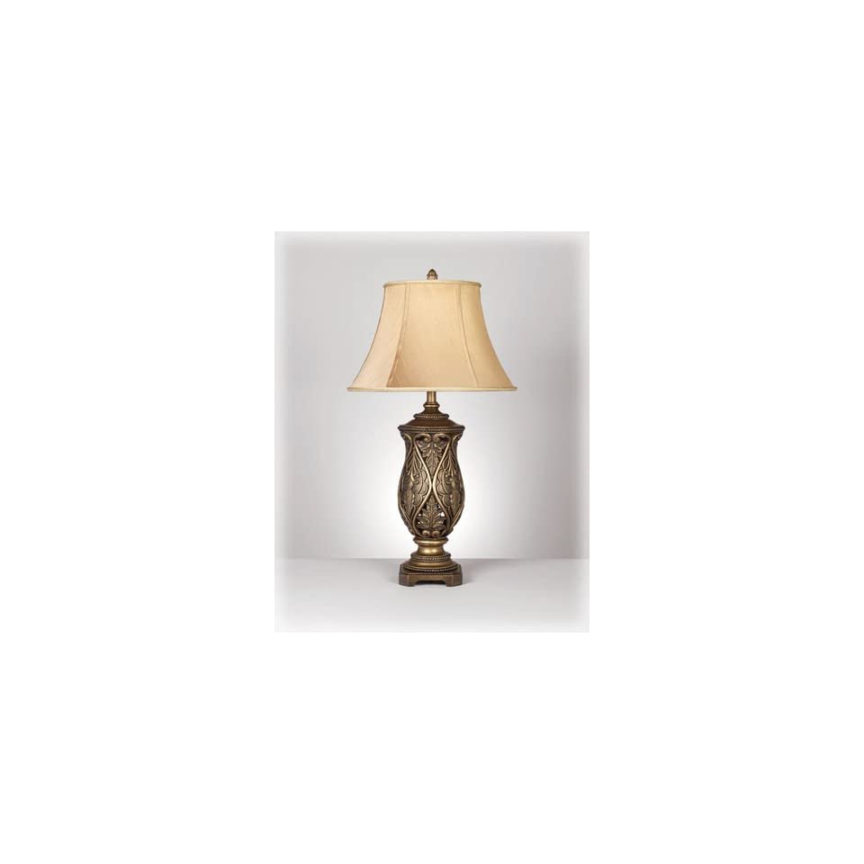 Ashley L511934 Katarina Table Lamp, Antique Brass Finish, Set of 2