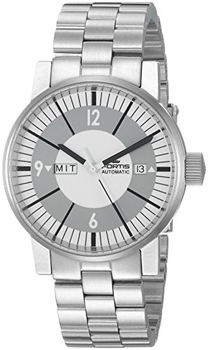 Fortis-Mens-6231037-M-Spacematic-Classic-White-Analog-Display-Automatic-Self-Wind-Silver-Watch