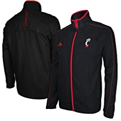 Cincinnati Bearcats adidas Black Full-Zip Sideline Jacket by adidas