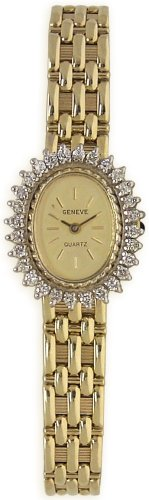 Geneve 14K Solid Gold Diamond Womens Watch - W05066