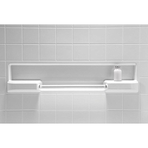 All Pro 30 in. x 60 in. x 73-1/2 in. Standard Fit Bath and Shower Kit in Biscuit 59 1 2in x32 1 4in x86in standard fit shower kit in white acrylic base silver hamrd door left drain decora provantage