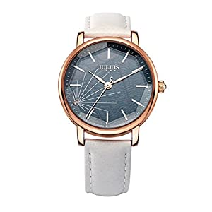 Mirror stereo cutting ladies watch/ dial leather strap quartz watch-C