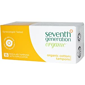Seventh Generation Chlorine Free Organic Cotton Tampons - Regular -- 16 Tampons