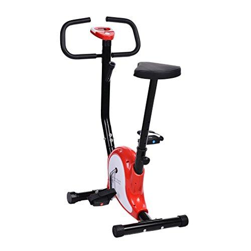 Ancheer Heimtrainer Fitnessbike, 8-stufig verstellbarer Widerstand,faltbar,mit/ohne Rückenlehne
