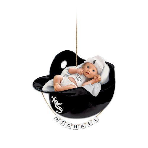 Chicago White Sox Personalized Baby&#039;s First Christmas Ornament by The Bradford Exchange at Amazon.com