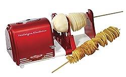 Nostalgia PT300RETRORED '50s-Style Electric Spiral Twister & Peeler