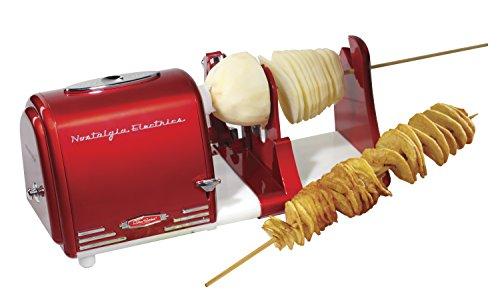 Nostalgia PT300RETRORED Retro Series Spiral Twister, Peeler & Potato Chip on a Stick Maker (Spiral Potato Cutter compare prices)