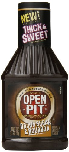 Open Pit Barbecue Brown Sugar And Bourbon BBQ Sauce, 18 Ounce (Pack Of 4)