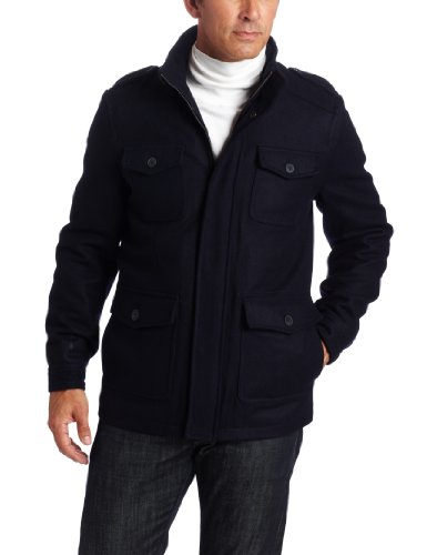 Dockers Men's Wool 4 Pocket Melton Jacket