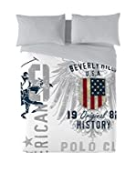 BEVERLY HILLS POLO CLUB Juego De Funda Nórdica Trinity (Gris/Blanco)