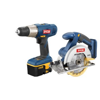 Factory-Reconditioned Ryobi ZRP807 ONE Plus 18V Cordless Drill and Circular Saw Combo Kit