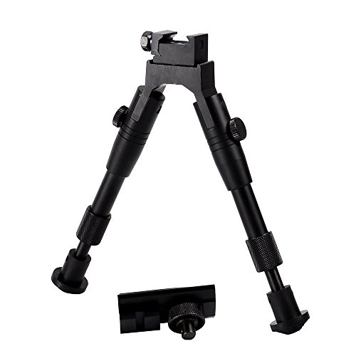 "Ohuhu SWAT Bipod with Swivel Mount, Rubber Feet, Foldable Arms, Adjustable Height from 6.5"" to 7.0"""