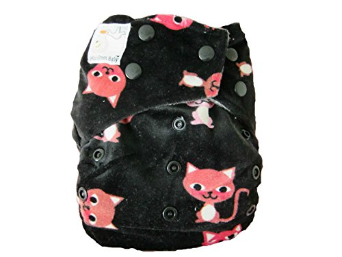 Kawaii Baby Mom Label Minky Bamboo Charcoal OS - 1