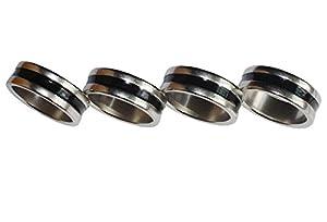 GoodQbuy® Strong Magnetic Ring Magic Tricks Four Magic Rings