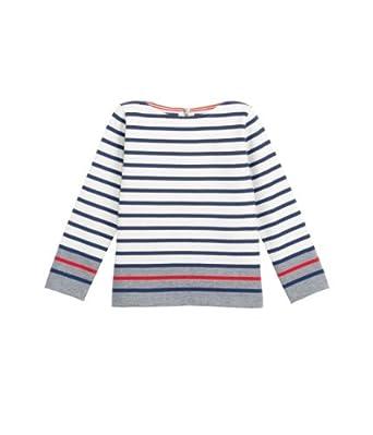 Petit Bateau - T-shirt à manches longues - fille - multicolore (coquille/multico) - 5 ans