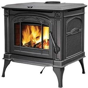 Napoleon 1400c Cast Iron Wood Burning Stove - Black