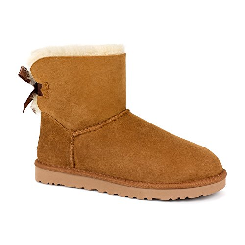UGG Australia Womens Mini Bailey Bow Chestnut